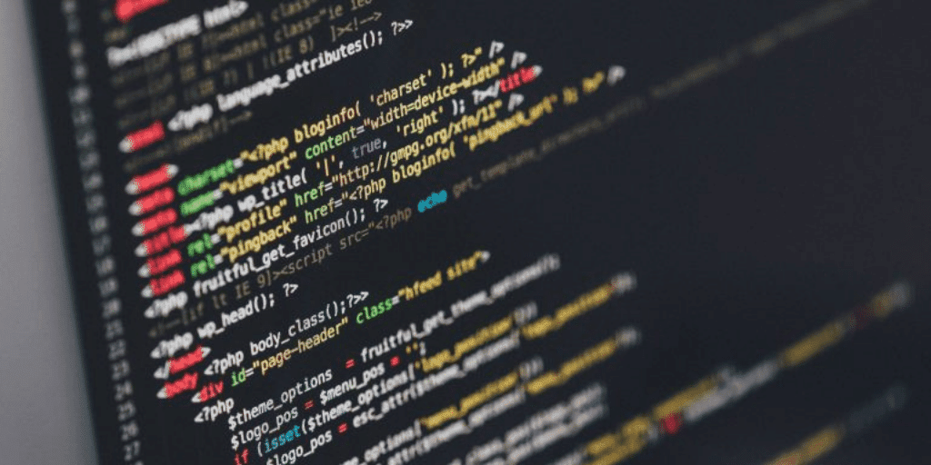 Lines of code on a computer screen