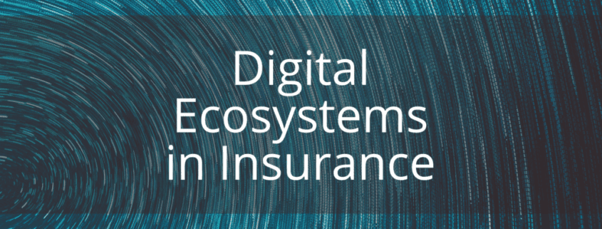 Digital ecosystems in insurance graphic