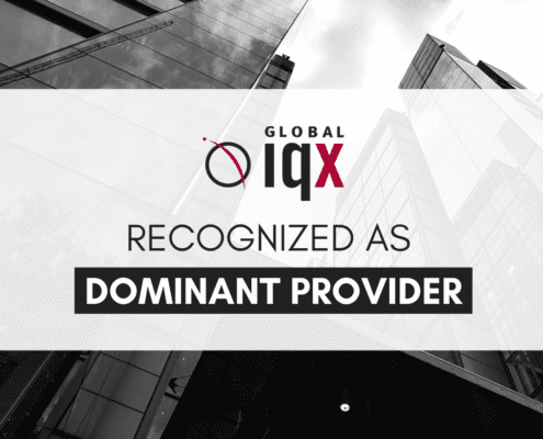 Global IQX Featured as Dominant Provider Blog Header with Cityscape