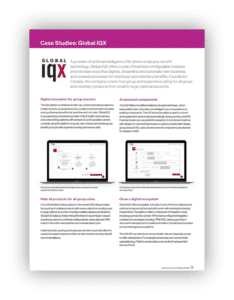 Preview of Global IQX case study featured in Insurtech report